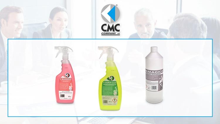 La nuova linea di detergenti professionali C-DET di CMC COMPANY per bagni e superfici lavabili