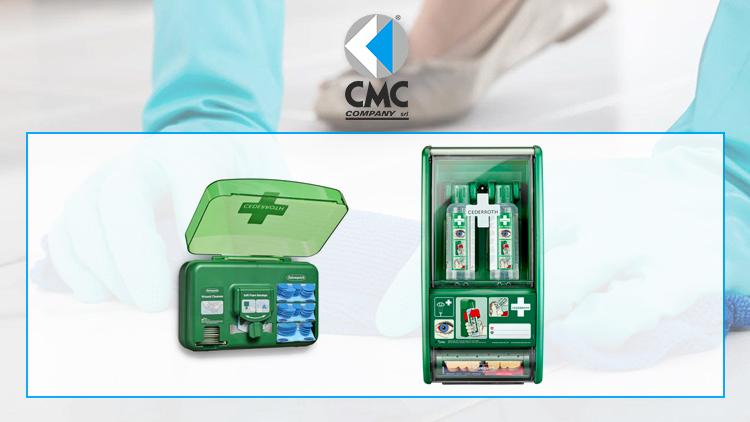 CMC COMPANY distribuisce i dispenser per il primo soccorso Cederroth